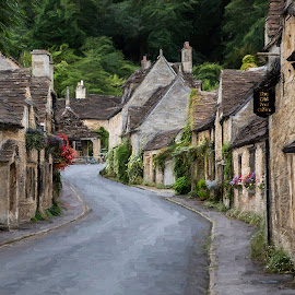 The Old Post Office, Castle Combe UK by Terry Scussel - City,  Street & Park  Historic Districts ( impressionistic photography, the old post office - castle combe, cotswolds, castle combe, the old post office )
