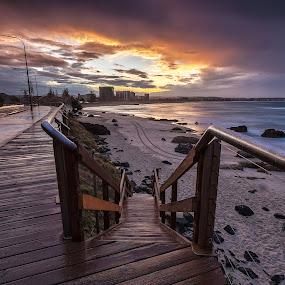 After the Rain by Steve Badger - Landscapes Sunsets & Sunrises ( queensland, sunset, australia, kirra, beach )