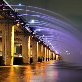 Banpo Rainbow Bridge  by Khoirul Huda - Buildings & Architecture Bridges & Suspended Structures