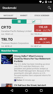 Stockcharts: Canada TSX/TSX-V screenshot for Android