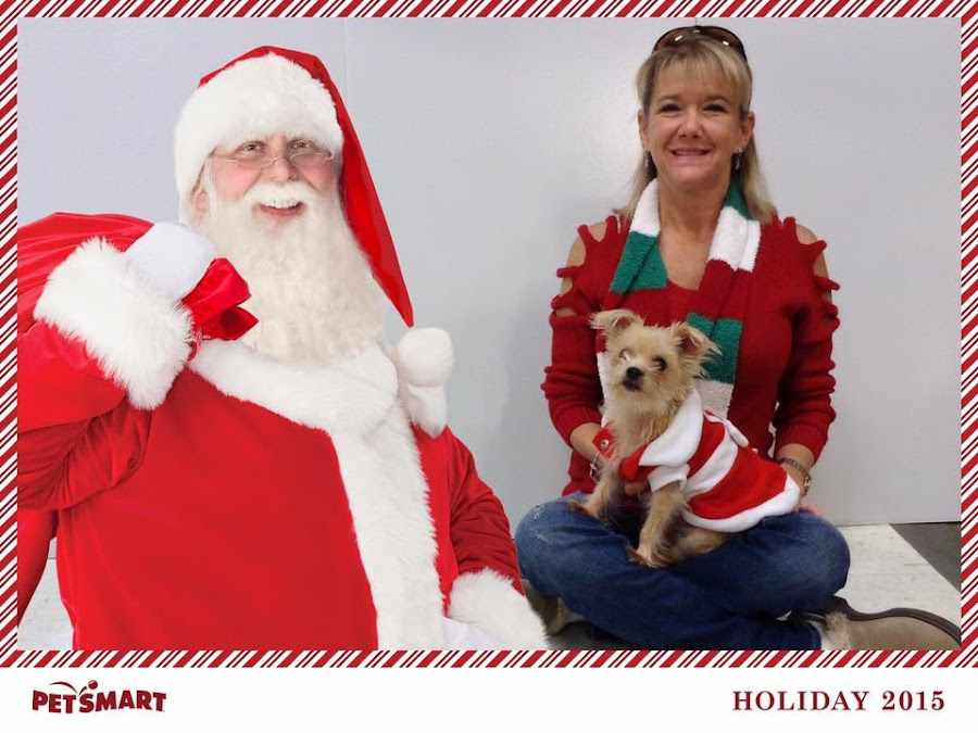 The first picture with Santa... by Kristian N Shawn Jackson - Typography Captioned Photos