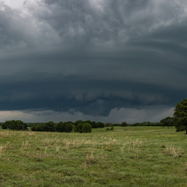 Mothership pano by Matt Hollamon - Landscapes Weather ( storm chaser, oklahoma, supercell, severe weather, panorama )