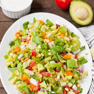 Tomato and Corn Chopped Salad with Cilantro Ranch