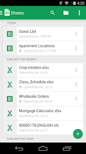 Google Sheets APK for Lenovo