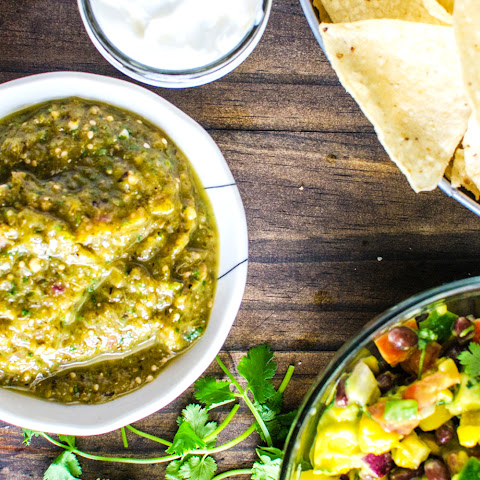 Roasted Poblano and Tomatillo Salsa Verde