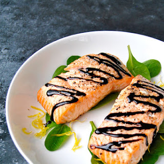 Baked Salmon with Balsamic Brown Butter