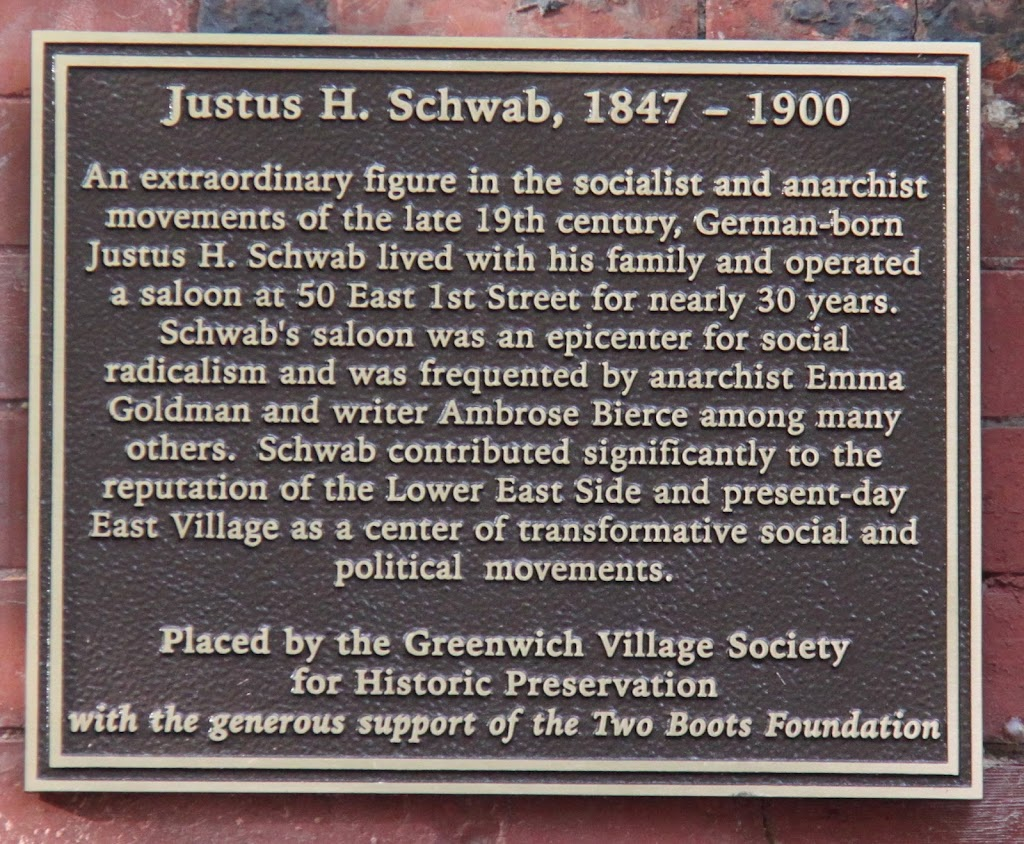 Justus H. Schwab, 1847 - 1900An extraordinary figure in the socialist and anarchist movements of the late 19th century, German-born Justus H. Schwab lived with his family and operated a saloon at 50 ...