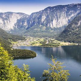 Lake Hallstatt by Linda Brueckmann - Landscapes Mountains & Hills