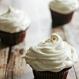 Stout Cupcakes with a Whiskey Ganache Filling and Baileys Infused Butter-Cream
