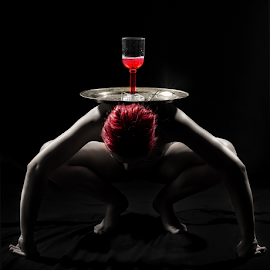 Red on Red by Derek Galon - Nudes & Boudoir Artistic Nude