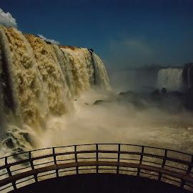 Iguacu Falls by Stanley P. - Landscapes Waterscapes