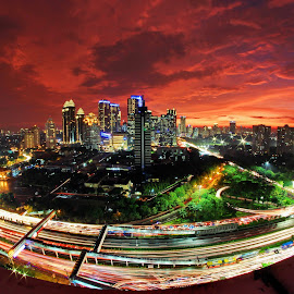 Sudirman Central Business District by Agustinus Tri Mulyadi - City,  Street & Park  City Parks ( sunset, cityscape,  )