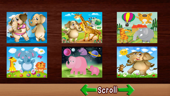 Elephant Puzzle Games For Kids - screenshot