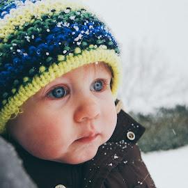 Spellbound  by Rachel Davis - Babies & Children Children Candids ( #snow #winter #baby #spellbound #eyes,  )