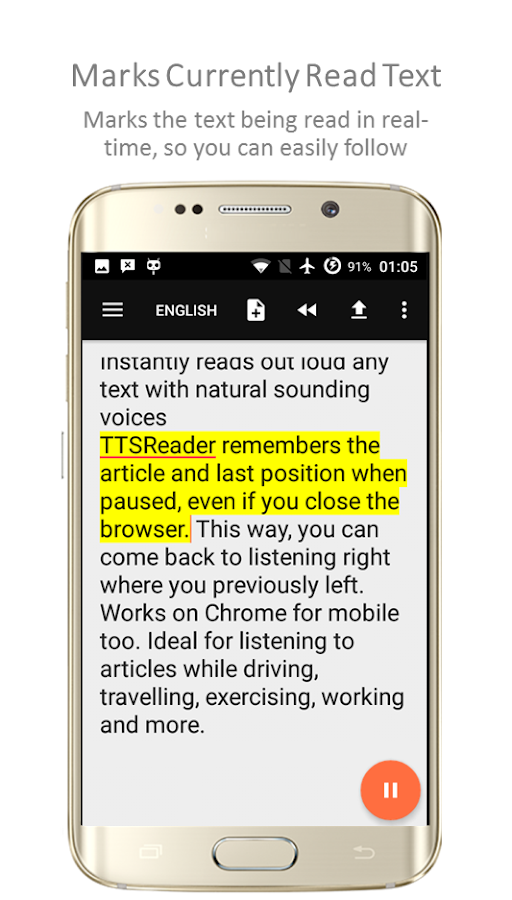 TTSReader Pro - Text To Speech Screenshot 1