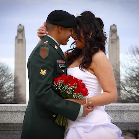 Only 1 Day by Matthew Lindsey - Wedding Bride & Groom ( army groom army wedding, wedding, bride and groom, military groom, military )