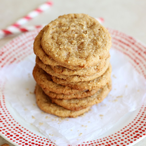 Easy 5-Ingredient Chewy Cashew Butter Toffee Cookies