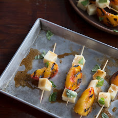 Peach Basil Skewers