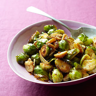 Mustard-Glazed Brussels Sprouts with Chestnuts