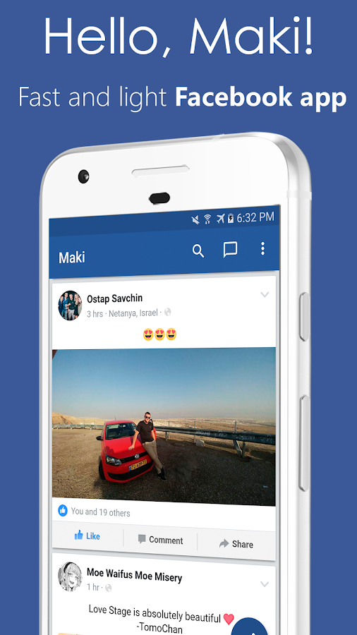 Maki Pro for Facebook Screenshot