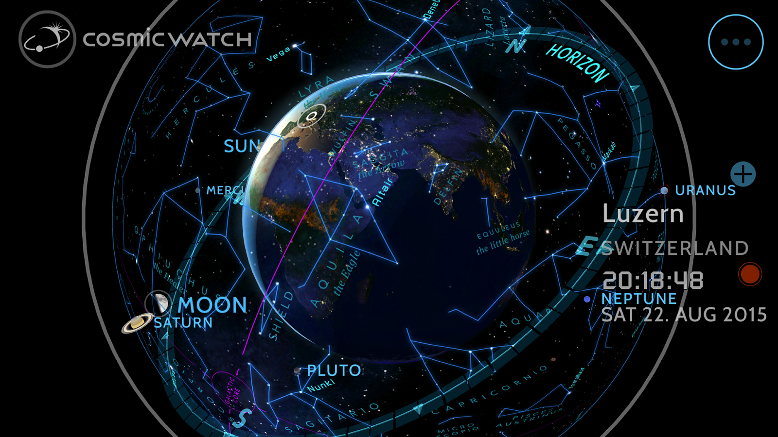 Cosmic-Watch Screenshot 1