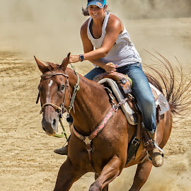 Barrel Rider by Joe Saladino - Sports & Fitness Other Sports ( girl, barrel racer, horse, competition )