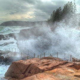 Thunder Hole Acadia National Park by John Vreeland - Digital Art Places