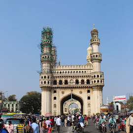 Charminar - The Pride Of Hyderabad by Naveen Viswanath - Buildings & Architecture Public & Historical ( canon, sites, monument, historical, architecture, world heritage, photography, charminar )