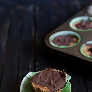 Chocolate Almond Butter Freezer Fudge Cups