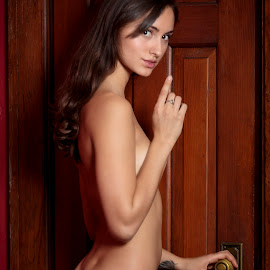 Zoe Ivy X by Xavier Wiechers - Nudes & Boudoir Artistic Nude ( model, nude, canada, wood, mansion, beautiful, door, frame.light, quiet, young, vancouver, modern, arundel, misterious, girl, red, gorgeous, woman, zoe ivy, night, brunette, british columbia )