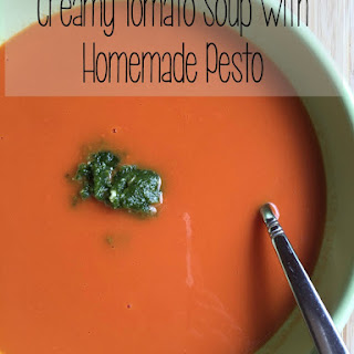 Creamy Tomato Soup with Homemade Pesto
