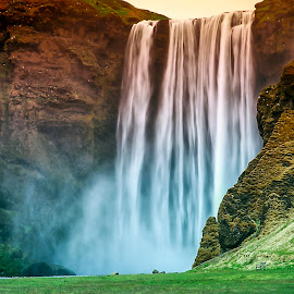Skógafoss by Stanley P. - Landscapes Waterscapes ( waterfall, landscapes, waterscapes, island )