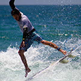 Wave Rider by Alvin Simpson - Sports & Fitness Surfing ( water, surfer, surfboard, wave, ocean, beach, surf )