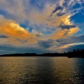 Sunshine Cloud Reflection by Debbie Squier-Bernst - Instagram & Mobile iPhone (  )