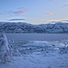 winter snow by Yvonne Reinholdtsen - Landscapes Mountains & Hills ( winter, snow, vesterålen, fjord, norway,  )