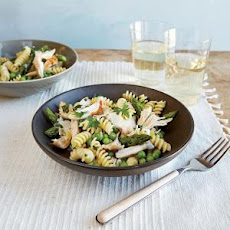 Spring Pea and Pasta Salad with Chicken and Asparagus