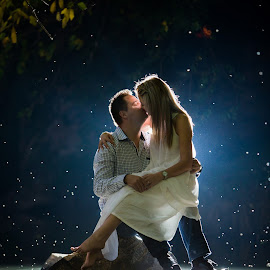 River by Lodewyk W Goosen (LWG Photo) - Wedding Bride & Groom ( wedding photographers, brides, night time, bride & groom, nightscape, night photography, wedding day, night, bride and groom, wedding photographer, bride, night shot, groom, bride groom )