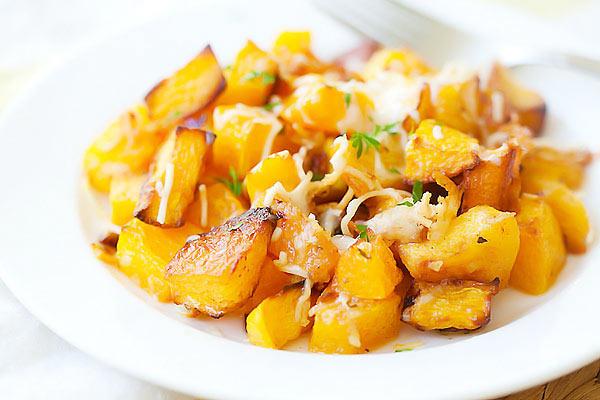Garlic Parmesan Roasted Butternut Squash Recipe | Yummly