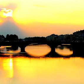 Sunset Palette by Dhannya Jacob - Buildings & Architecture Bridges & Suspended Structures ( pwcbridges )