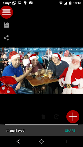 android Père Noël dans vos photos Screenshot 3