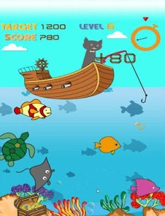 Magnetic cat fishing game apk 1 0 0 free simulation for Cats go fishing