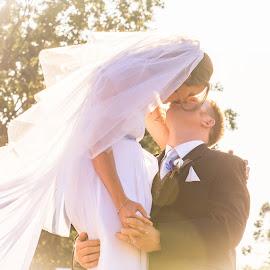Uplifting  by Sarah Sullivan - Wedding Bride & Groom ( love, lift, ever after, bride, groom, sarah sullivan photography )