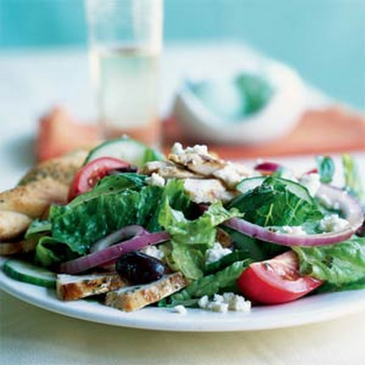 Greek Salad with Grilled Chicken Recipe | Yummly