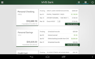 Screenshot of MVB Bank