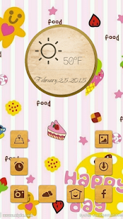 Cute colorful cartoon theme - screenshot