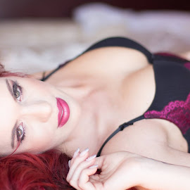 Red Head Angel ...Light up the world... by Willie van der Merwe - Nudes & Boudoir Boudoir