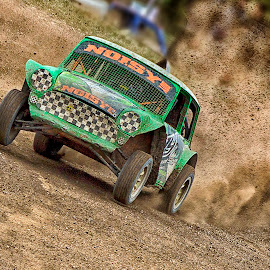 Blowing Mud by Dez Green - Sports & Fitness Motorsports ( motor racing, grasstrack, autograss, mud, mud racing, cars, bangers )