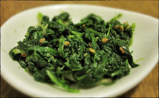 Sigeumchi Namul (Korean spinach side order)