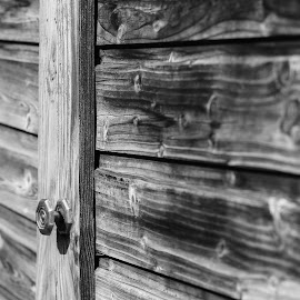 Wooden Blind by Balazs Toth - Abstract Patterns ( b&w, wood, pattern, lines, blind )