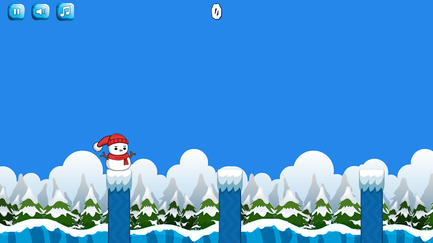 android Snowy Jump Screenshot 2